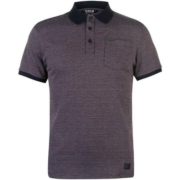 Firetrap Tipped Polo Shirt Navy/Red