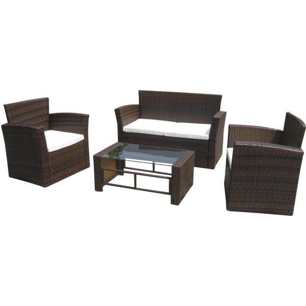 vidaXL 40306 Havesofa (modul/stk) Loungesæt, borde inkl. 2 stole & 1 sofaer