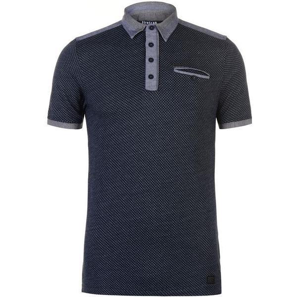Firetrap Jacquard Polo Shirt Navy