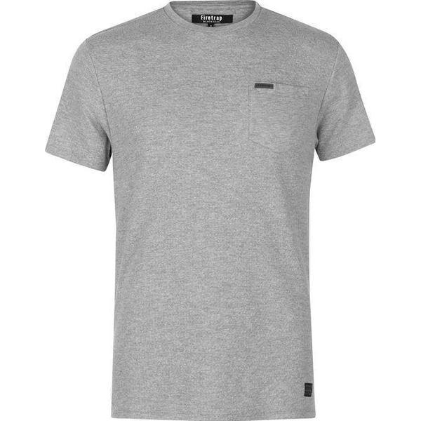 Firetrap Blackseal Herringbone T-shirt Grey