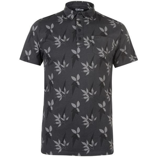 Firetrap Floral Polo Shirt Navy/Grey