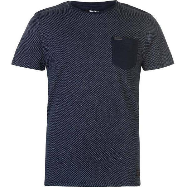 Firetrap Blackseal Textured T-shirt - Navy