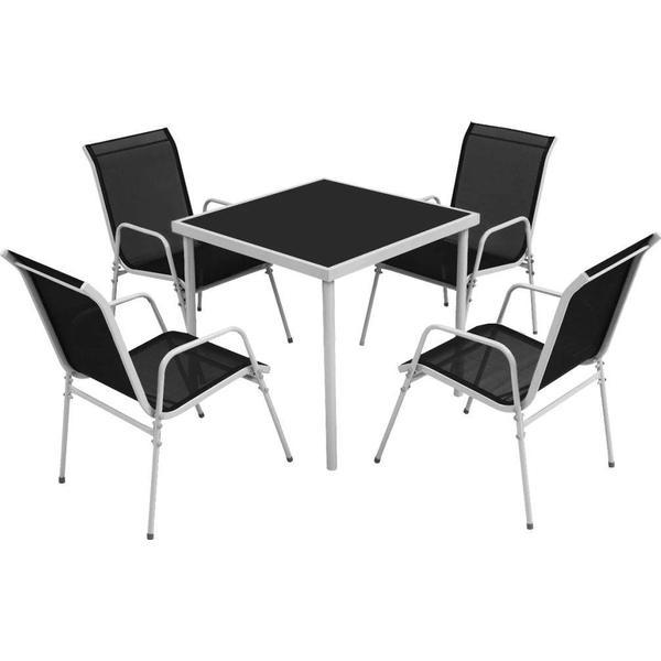 vidaXL 43308 Havemøbelsæt, 1 borde inkl. 4 stole