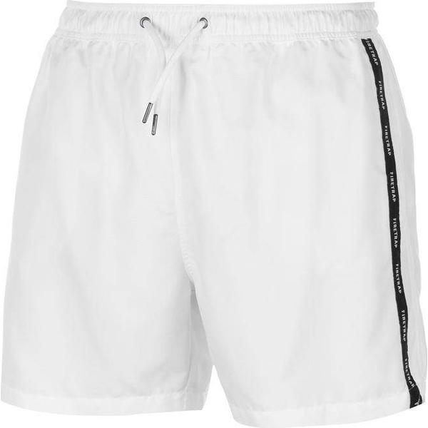 Firetrap Taped Swim Shorts White