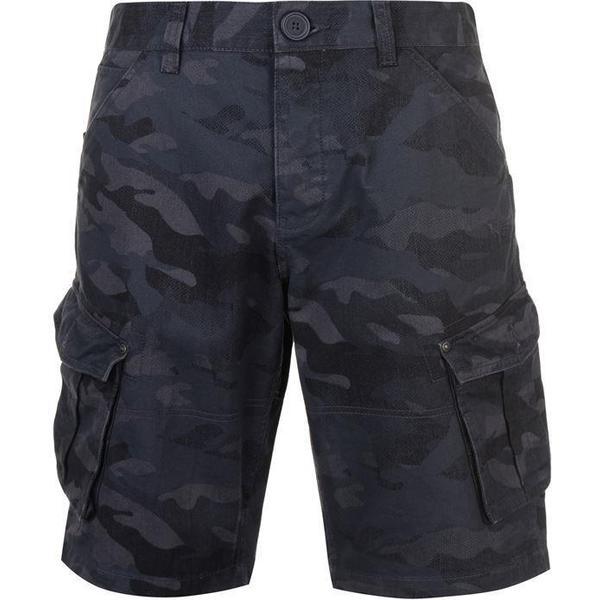 Firetrap Below the Knee Shorts Navy Camo