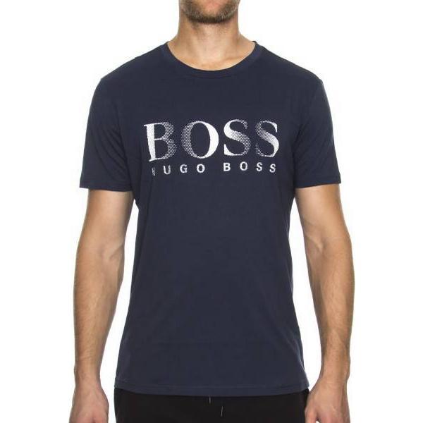 Hugo Boss Relaxed-Fit Cotton T-shirt Dark Blue