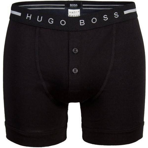 Hugo Boss Ribbed Cotton Button Fly Trunk Black