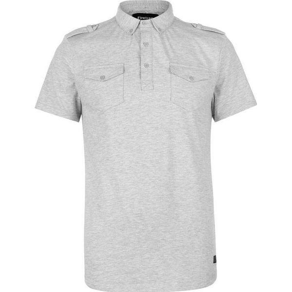 Firetrap Double Pocket Polo Shirt Grey Marl
