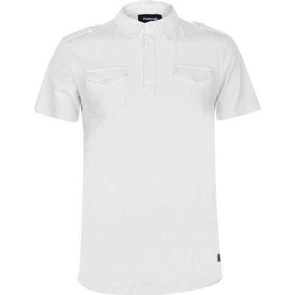 Firetrap Double Pocket Polo Shirt White
