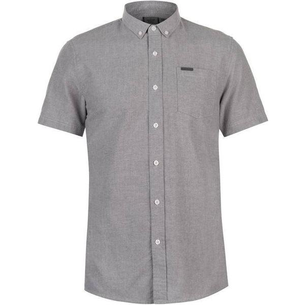 Firetrap Short Sleeve Oxford Shirt Grey