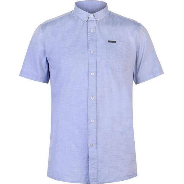 Firetrap Short Sleeve Oxford Shirt Blue