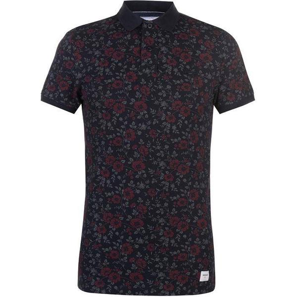 SoulCal Deluxe Floral Polo Shirt - Navy