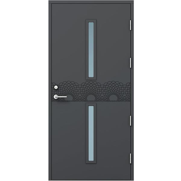 Kaski Design Sao Paulo Ytterdörr Klarglas S 0502-Y H (100x210cm)