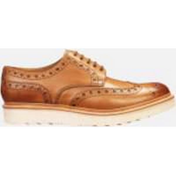 Grenson Brogues Men's Archie V Leather Brogues Grenson - Tan Calf dbff37
