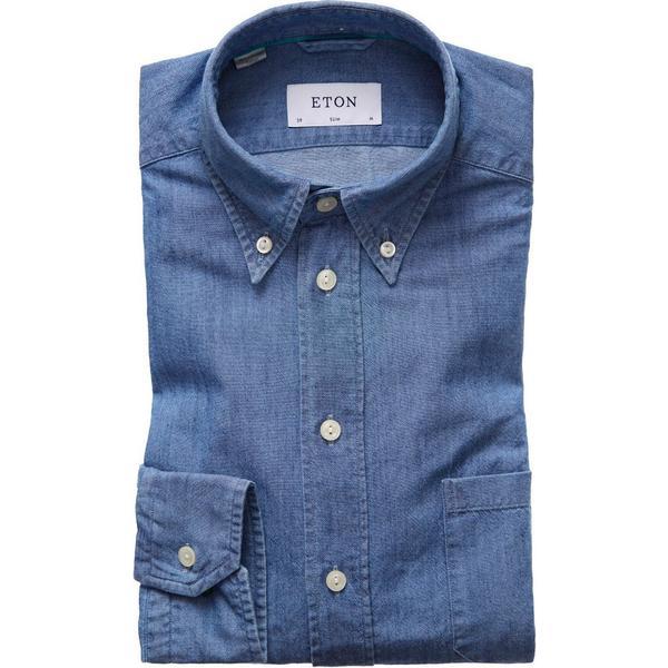 Eton Button Down Shirt Blue