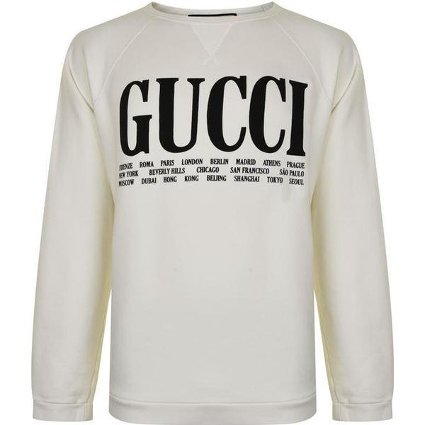 Gucci Cities Cotton Sweatshirt Off-White