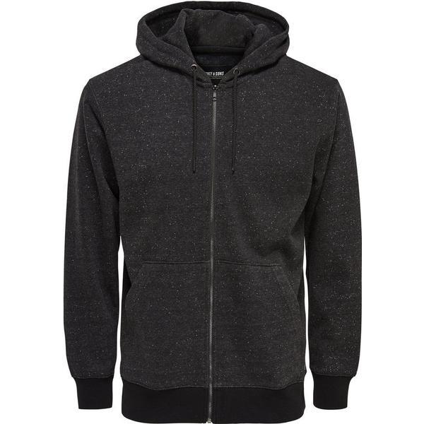 Only & Sons Sweat Hoodie Jacket Grey/Dark Grey Melange