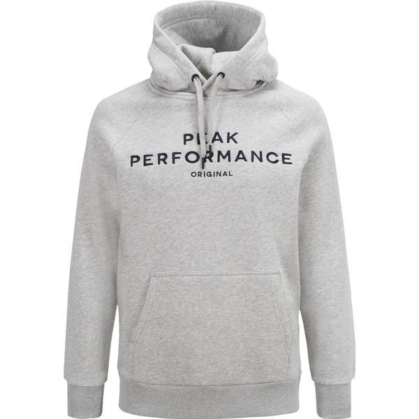 Peak Performance Logo Hood MED Grey Mel/M03