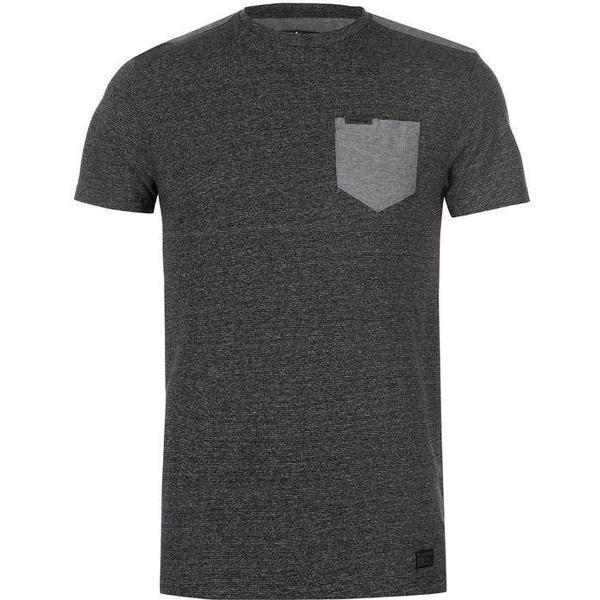 Firetrap Blackseal Textured Stripe T-shirt Charcoal