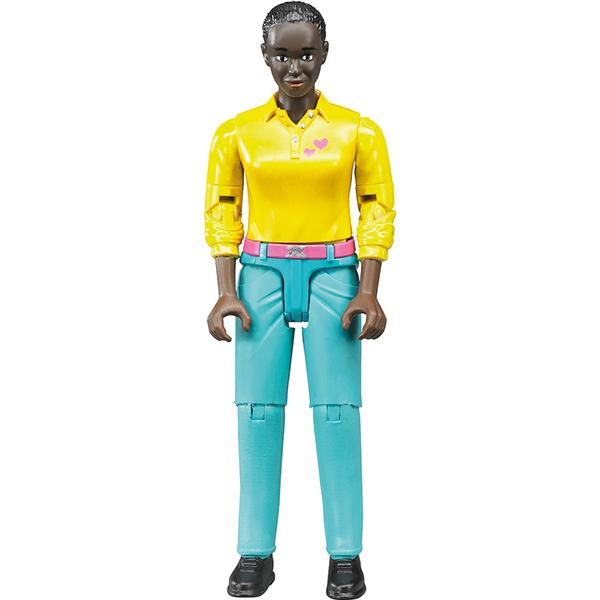 Bruder Woman Dark Skin Turquoise Jeans 60404