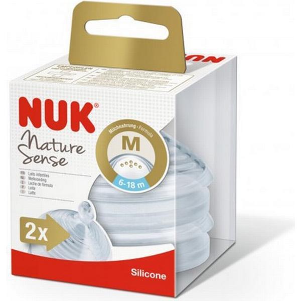 Nuk Nature Sense Silicone M Teats 6-18m 2-pack