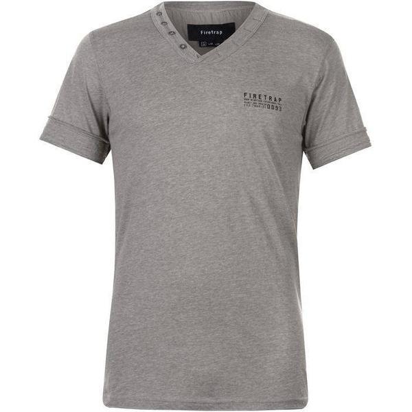 Firetrap Striding V Neck T Shirt Grey Marl