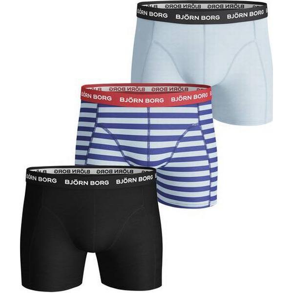 Björn Borg Boxer Shorts 3-pack - BB Stripe/Crystal Blue
