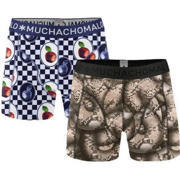 Muchachomalo Forbidden Fruits Boxershorts 2-pack - Black/Blue