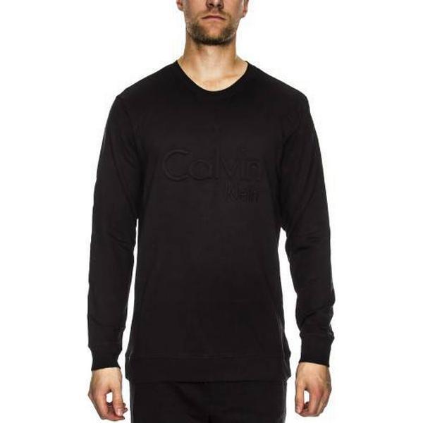 Calvin Klein Embroidered Logo Sweatshirt - Black
