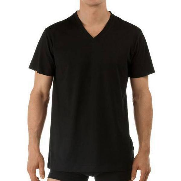 CALIDA Activity Cotton V-neck T-shirt - Black