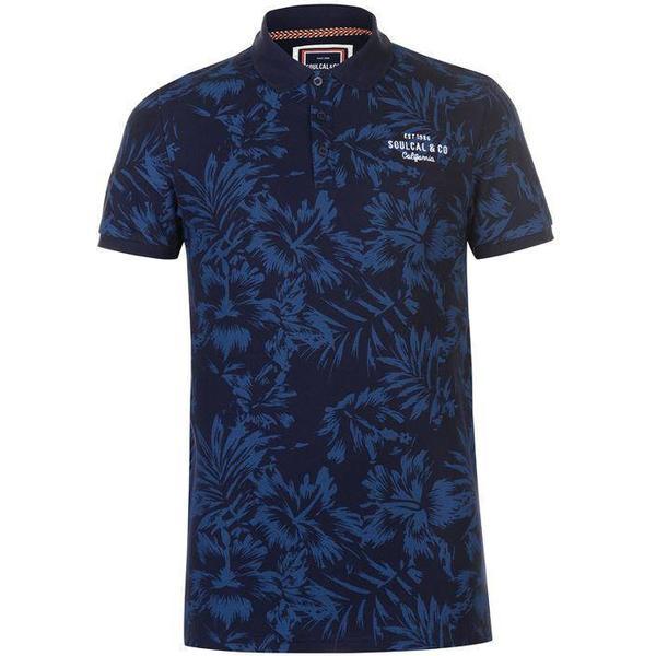 SoulCal AOP Polo Shirt - Navy Floral