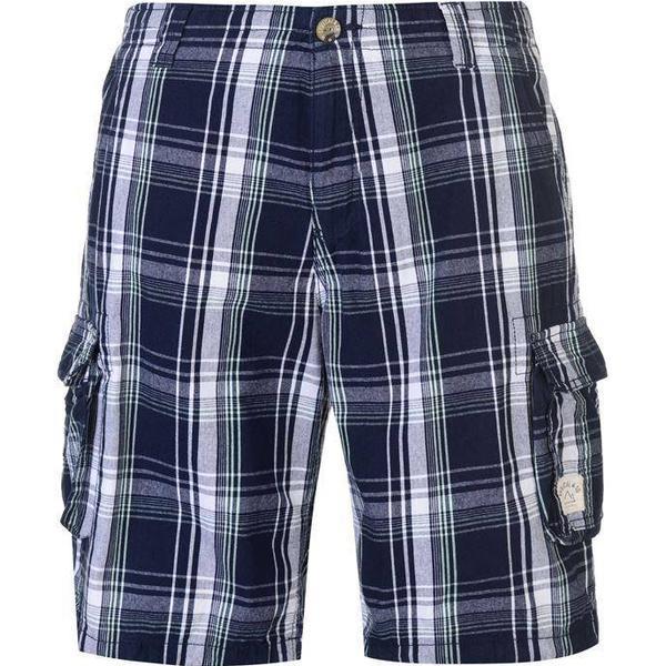 SoulCal Checked Cargo Shorts - Navy/Blue/Bay