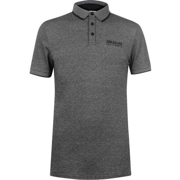 SoulCal Pique Polo Shirt - Black/Grey