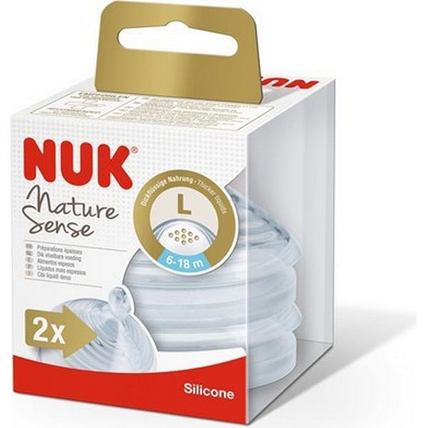 Nuk Nature Sense Silicone L Teats 0-6m 2-pack