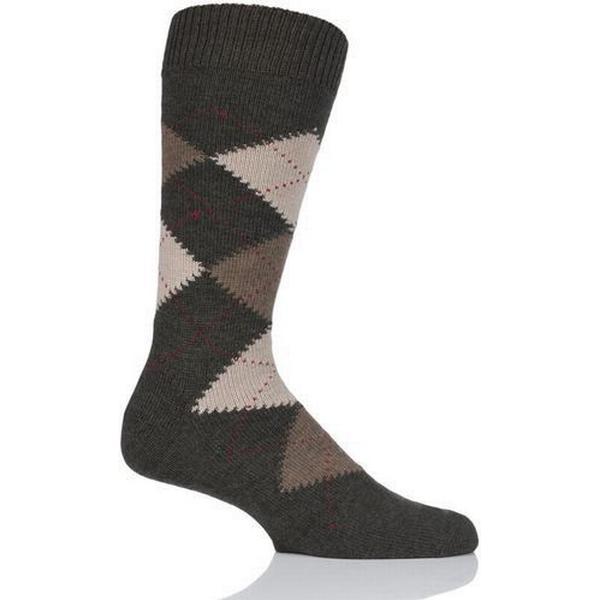 Pantherella Racton Argyle Socks Dk Olive Mix