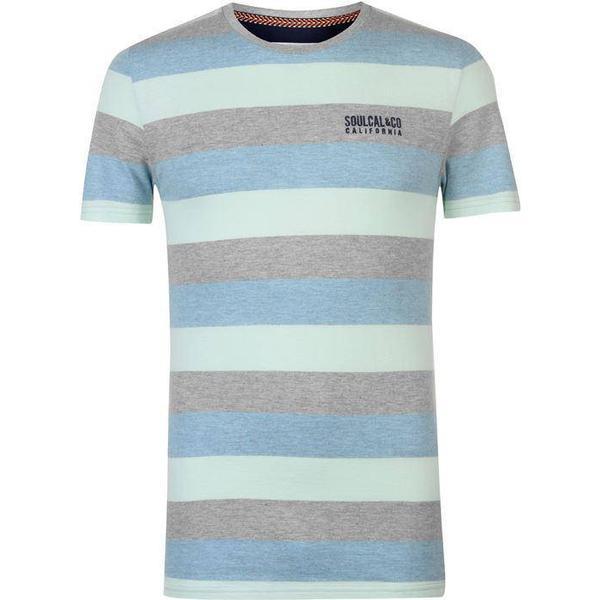 SoulCal Nep Stripe T-shirt Bay/Blue/GryM