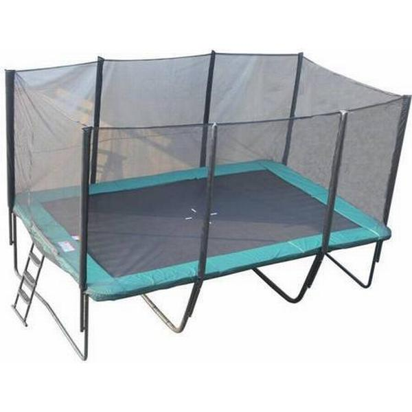 Bandito Square Trampoline + Safety Net 521x305cm