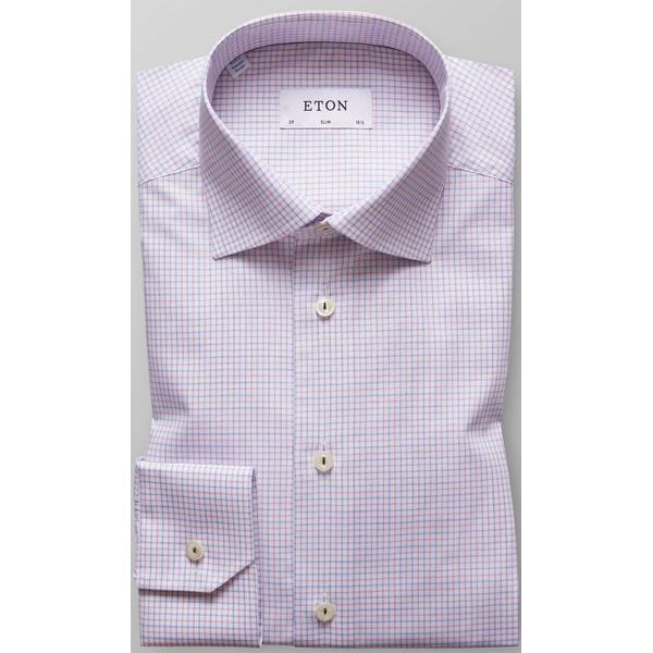 Eton Check Shirt Pink/Blue