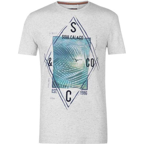 SoulCal Photo T-shirt Ash Marl Nep