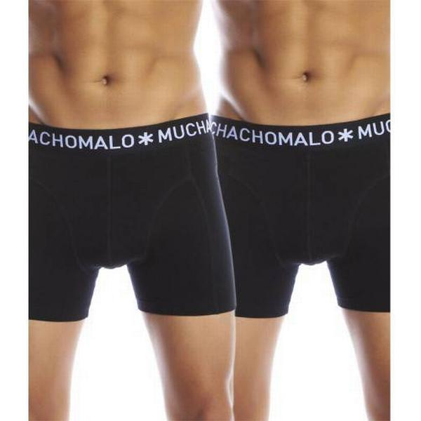 Muchachomalo Solid Boxershorts 2-pack - Black/Black