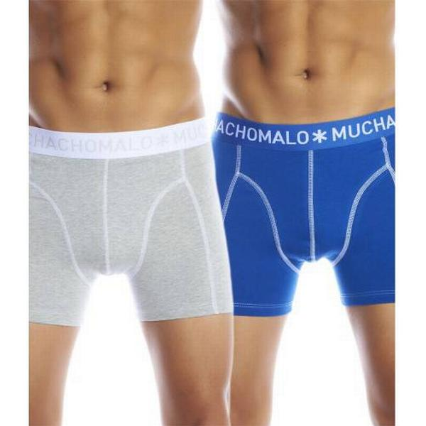 Muchachomalo Solid Boxershorts 2-pack Blue/Grey
