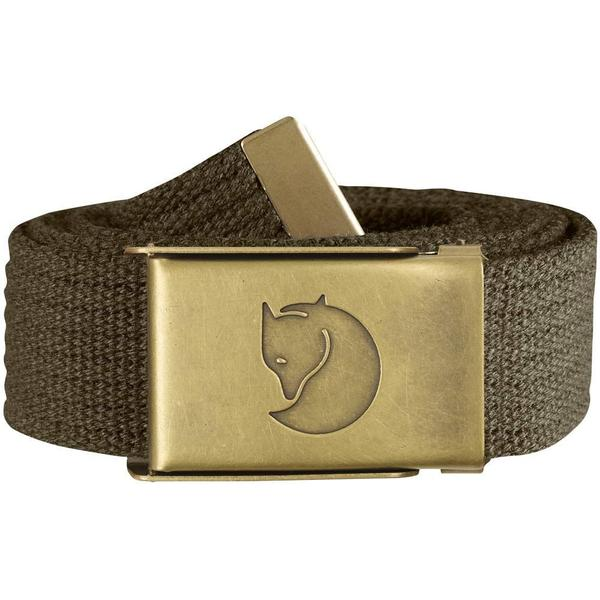 Fjällräven Canvas Brass Belt Unisex Dark Olive