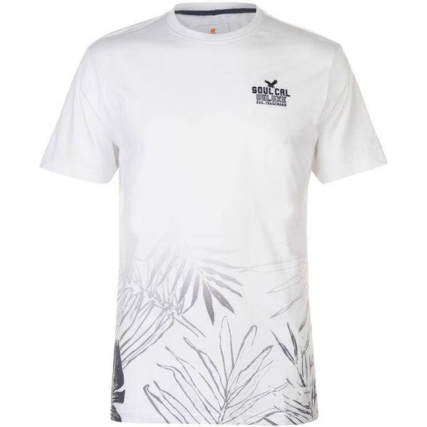SoulCal Deluxe Fade Floral T-shirt White