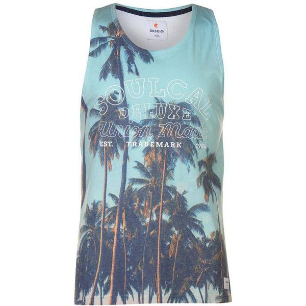 SoulCal Deluxe Palm Tree Vest Blue