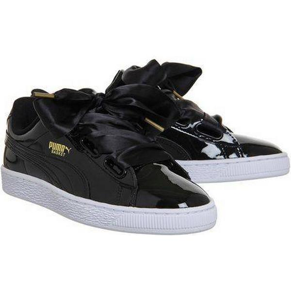 Womens **Basket Heart Trainers by Black Puma - Black, Black by 98d33d