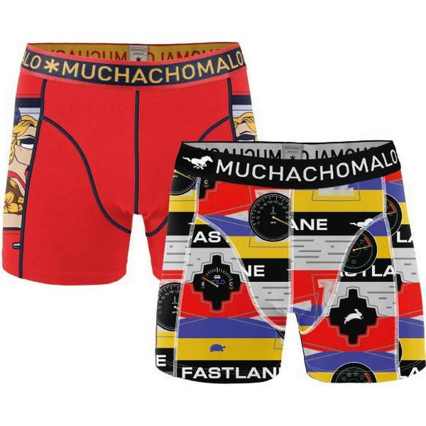 Muchachomalo Live The Fastlane Boxershorts 2-pack Red Pattern