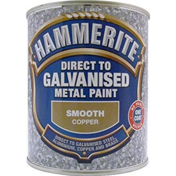 Hammerite Direct to Galvanised Metal Paint Gold 0.75L