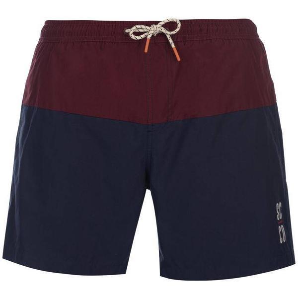 SoulCal Deluxe Cut & Sew Swim Shorts - Navy/Burg