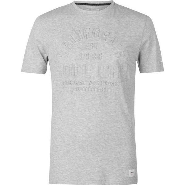 SoulCal Deluxe Embossed T Shirt Grey Marl