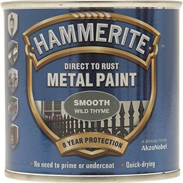 Hammerite Direct to Rust Smooth Effect Metal Paint Grey 0.75L